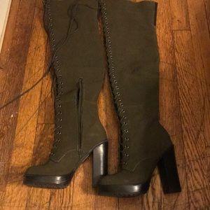 NWT Aldo OTK boots